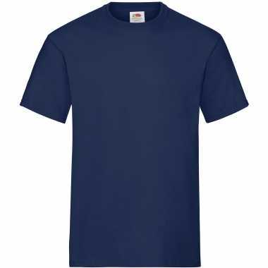 3-pack maat s - donkerblauwe/navy t-shirts met ronde hals 195 gr voor