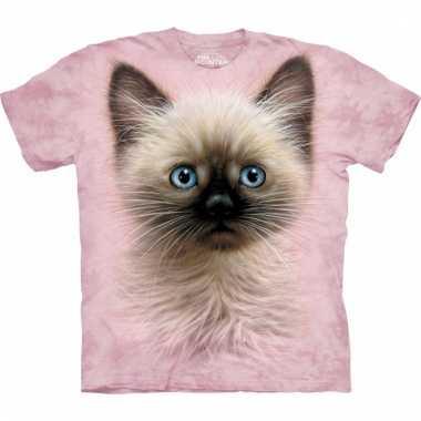 All over print kids t-shirt bruin katje
