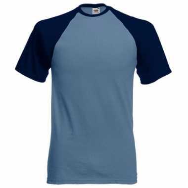 Baseball t-shirt blauw voor mannen
