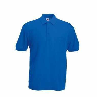 Bedrijfskleding kobaltblauw poloshirt katoenblend