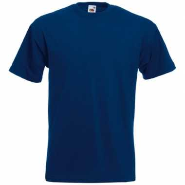 Blauw fruit of the loom tshirt ronde hals navy