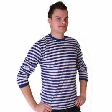 Wit Blauw Gestreepte Trui.Blauw Met Wit Gestreepte Dorus Trui Voor Heren Blauw T Shirt Nl