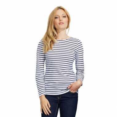 Blauw  Schipper t-shirt lange mouw voor dames