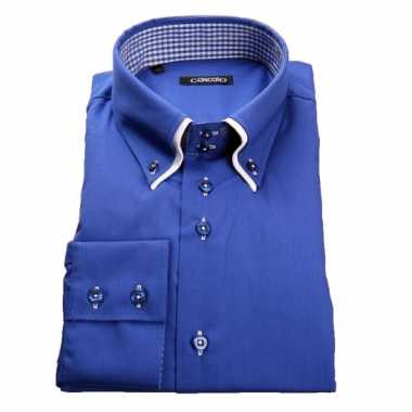 Heren Overhemd Blauw.Giovanni Blauw Heren Overhemd Blauw T Shirt Nl