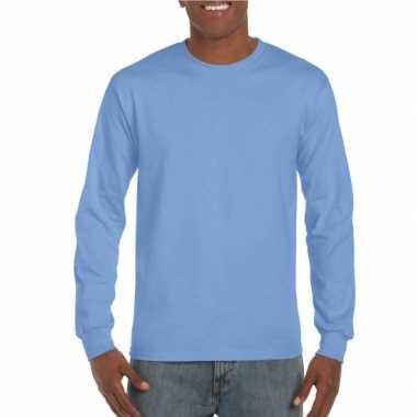Heren shirt lange mouwen carolina blauw
