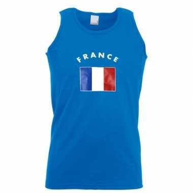 Heren singlet met de franse vlag