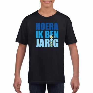 Verjaardags t-shirt voor jongens blauw