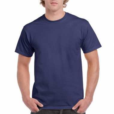 Voordelig donkerblauw t-shirt voor volwassenen