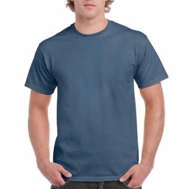 Voordelig indigo blauw t-shirt voor volwassenen