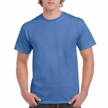 Voordelig iris blauw t-shirt voor volwassenen