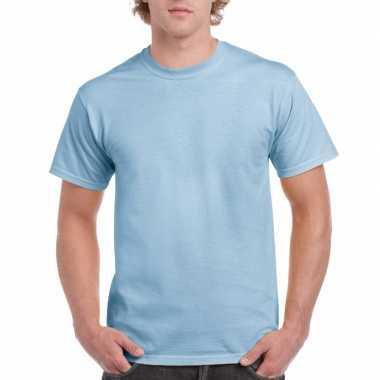 Voordelig lichtblauw t-shirt voor volwassenen