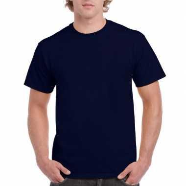 Voordelig navy blauw t-shirt voor volwassenen