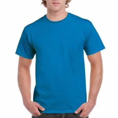 Voordelig saffierblauw t-shirt voor volwassenen