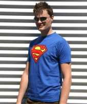 Blauw superman t shirt