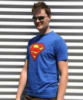 Blauw superman t shirt