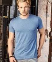 Denim blauwe heren t-shirt met ronde hals